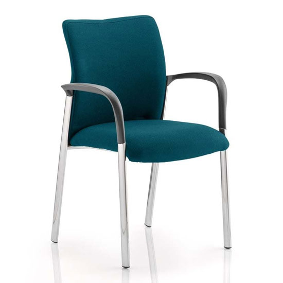 Academy Fabric Back Visitor Chair In Maringa Teal With Arms_1