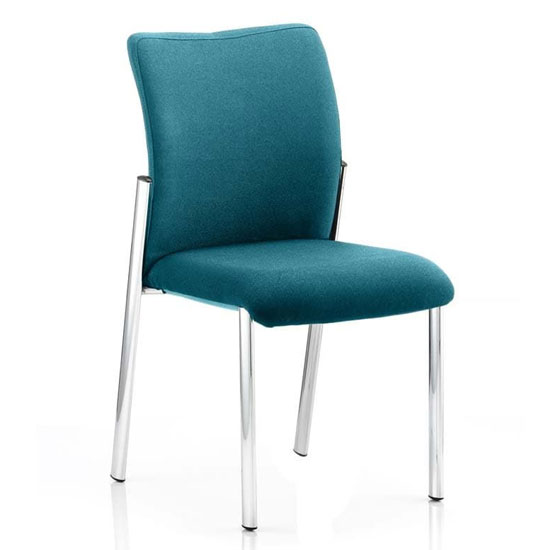 Academy Fabric Back Visitor Chair In Maringa Teal No Arms
