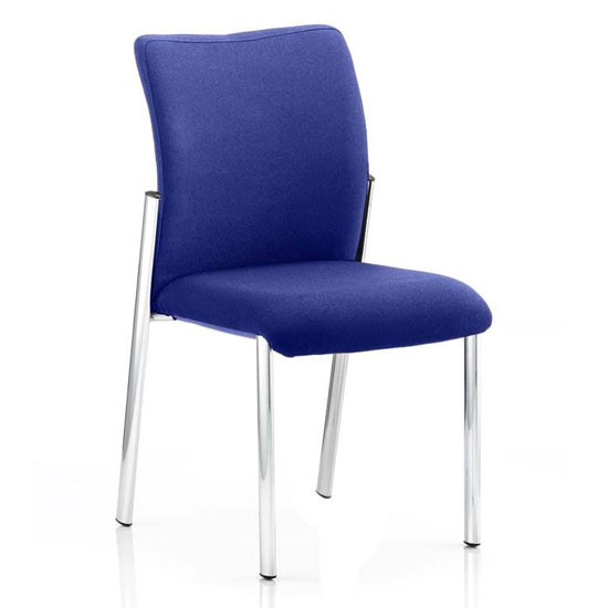 Academy Fabric Back Visitor Chair In Stevia Blue No Arms