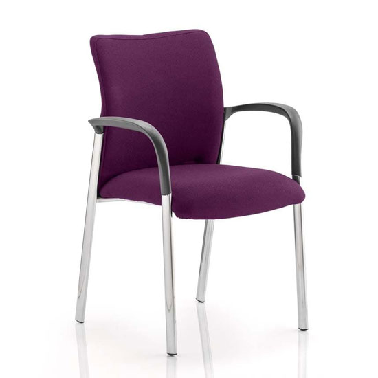 Academy Fabric Back Visitor Chair In Tansy Purple With Arms
