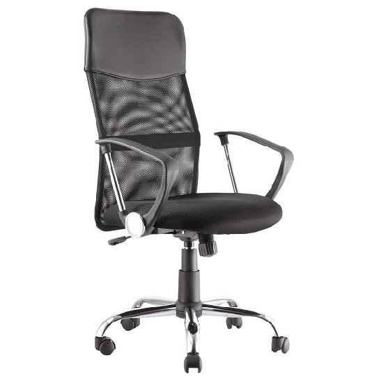 Benzine Home Office Chair In Black Mesh_1