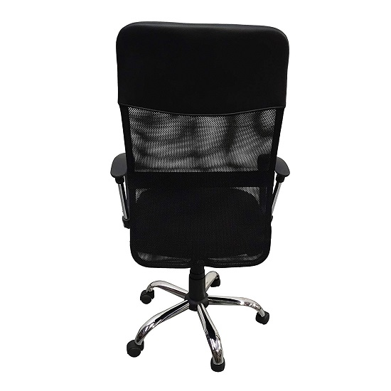 Benzine Home Office Chair In Black Mesh_2