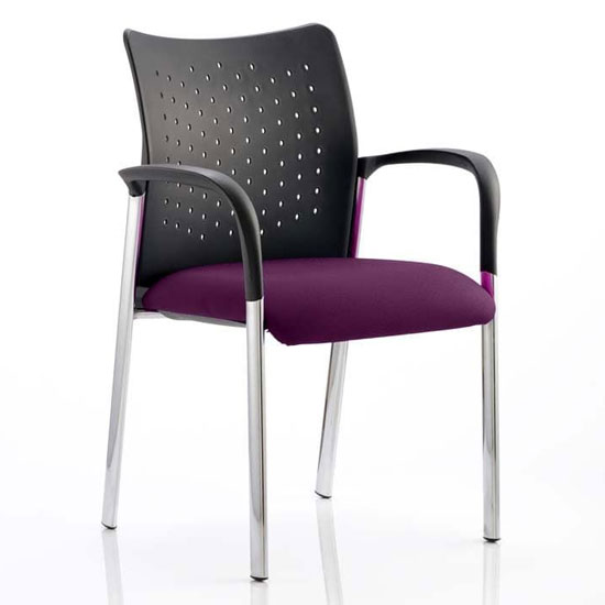 Academy Office Visitor Chair In Tansy Purple With Arms