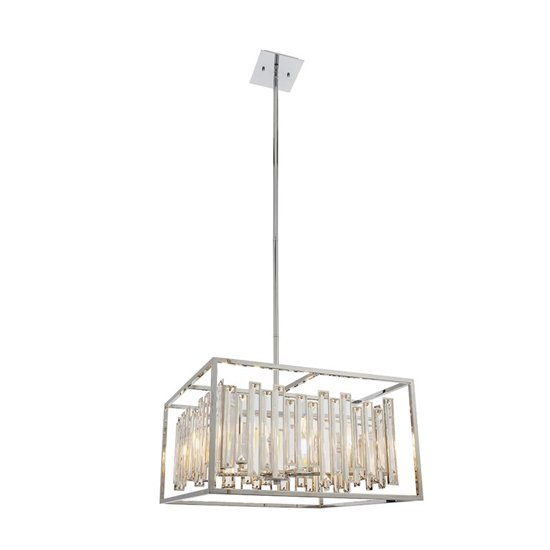 Acadia Wall Hung 6 Pendant Light In Chrome