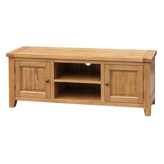 Acorn Straight Wooden TV Stand In Light Oak