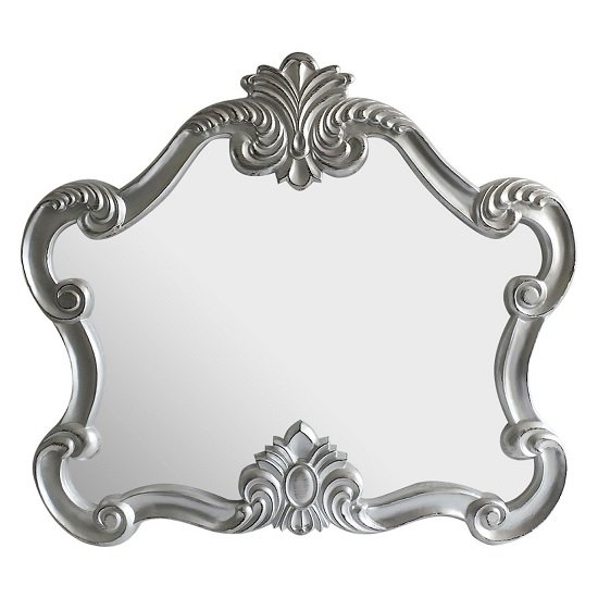 Acorn Decorative Wall Mirror In Silver