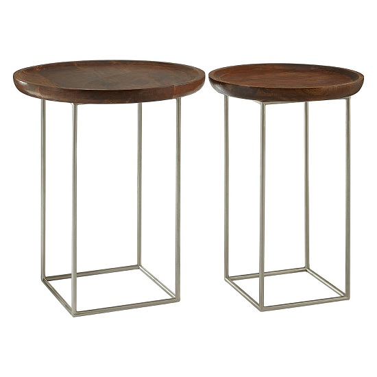 Acton Set of 2 Side Tables In Natural With Iron Frame_1