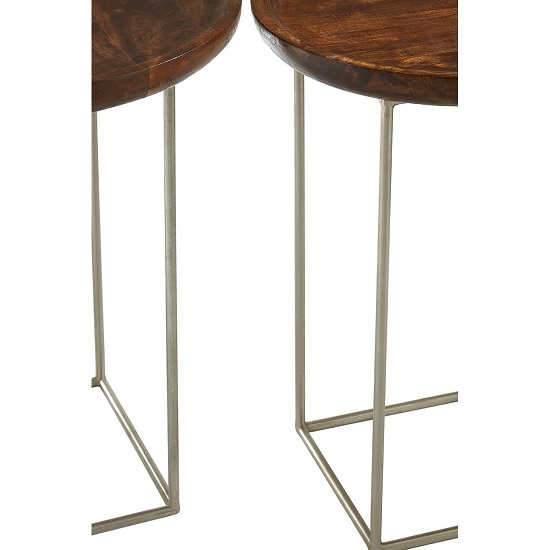Acton Set of 2 Side Tables In Natural With Iron Frame_4