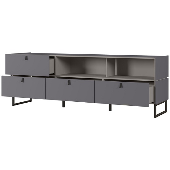 Adah Large Lowboard TV Stand In Graphite And Stone Grey_3