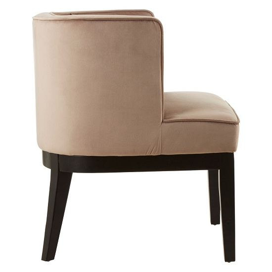Adalinise Rounded Velvet Upholstered Bedroom Chair In Brown_3