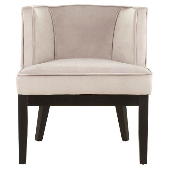 Adalinise Rounded Velvet Upholstered Bedroom Chair In Light Grey_1
