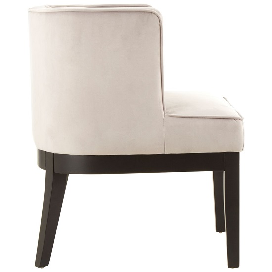 Adalinise Rounded Velvet Upholstered Bedroom Chair In Light Grey_3