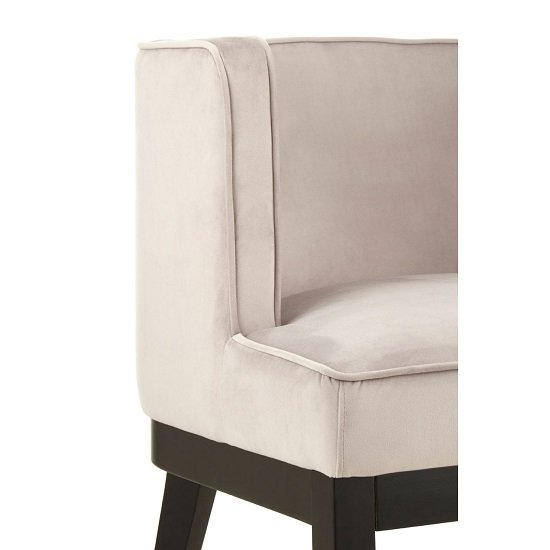 Adalinise Rounded Velvet Upholstered Bedroom Chair In Light Grey_5