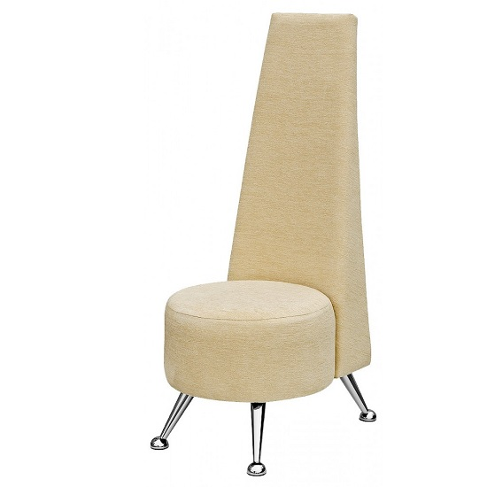 Adalyn Mini Potenza Chair In Cream Fabric With Chrome Legs