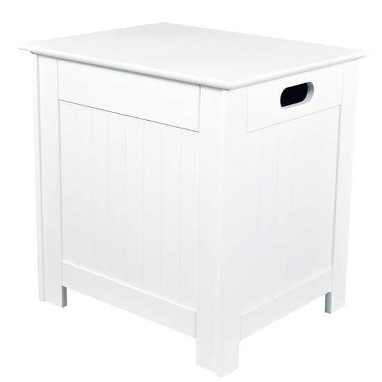 Adamo Wooden Laundry Cabinet In White