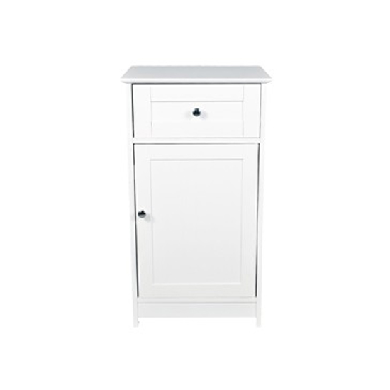 Adamo Wooden Low Storage Unit In White
