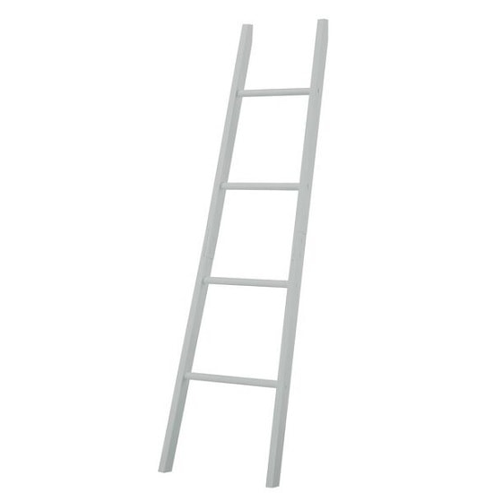 Adamo Wooden Bathroom Towel Ladder In Grey