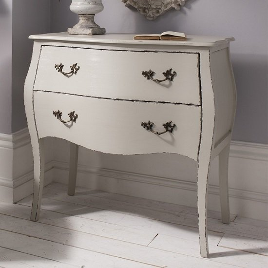 Addison Chest of Drawers In Grey With 2 Drawers