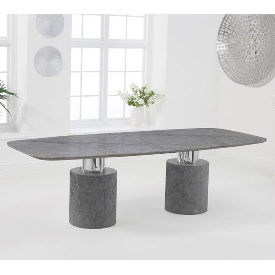 Adolane Large Marble Dining Table In Grey_2