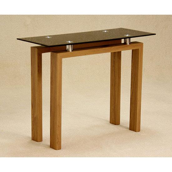 Adina Black Glass Console Table
