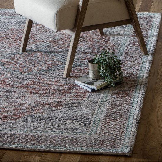Adlance Fabric Vintage Rug In Antique