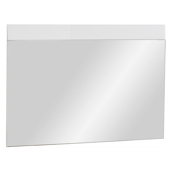 Adrian Wall Bedroom Mirror With White High Gloss Frame