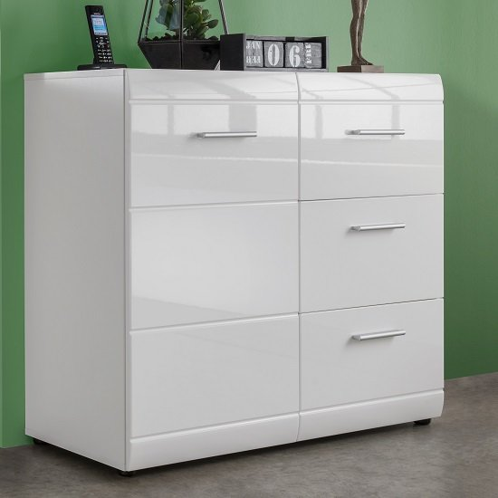 Adrian Sideboard In White With High Gloss Fronts And 1 Door_1