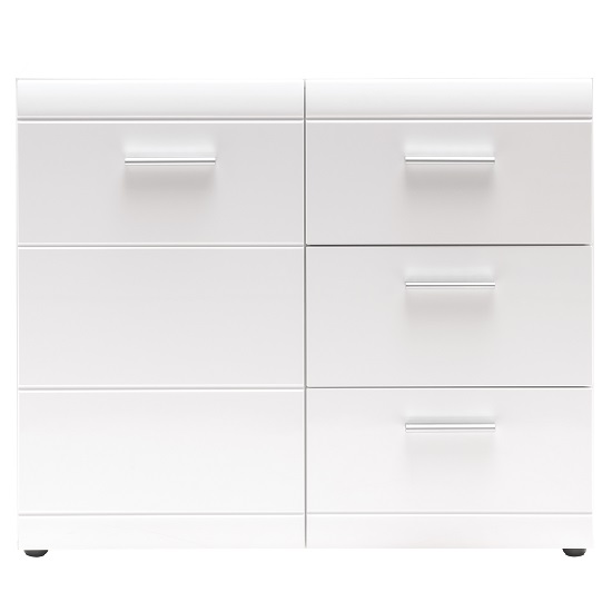 Adrian Sideboard In White With High Gloss Fronts And 1 Door_3