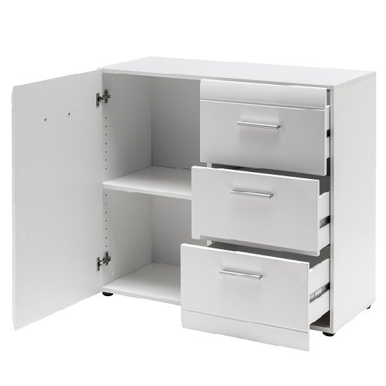 Adrian Sideboard In White With High Gloss Fronts And 1 Door_2