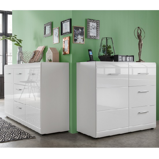 Adrian Sideboard In White With High Gloss Fronts And 1 Door_4