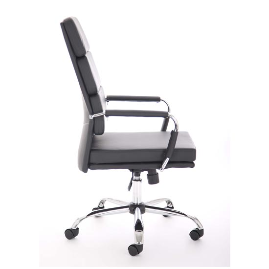 Advocate Leather Executive Office Chair In Black With Arms_2