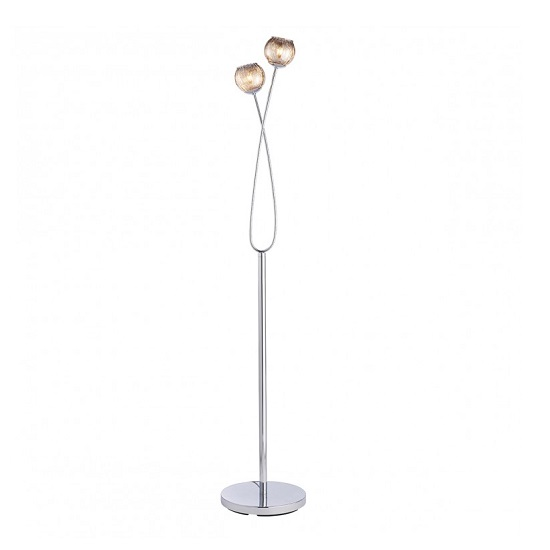 Aerith Floor Lamp In Chrome Finish