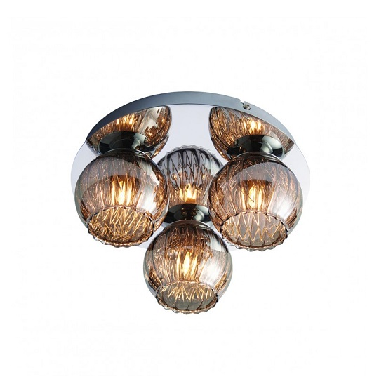 Aerith Three Ceiling Light In Chrome Finish