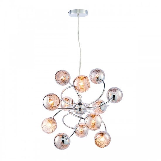 Aerith Wall Hung 12 Pendant Light In Clear Capsule