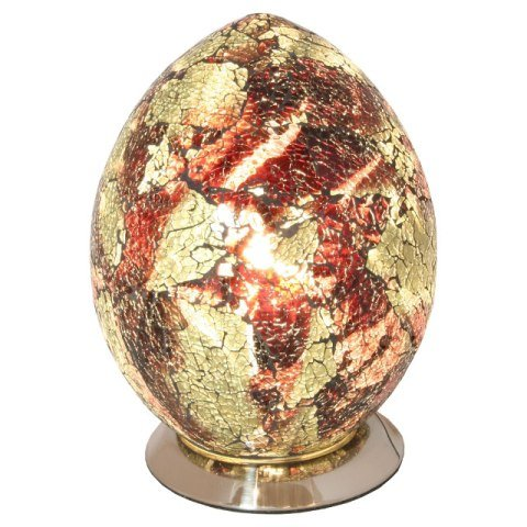 Mosaic Orange And Gold Egg Lamp