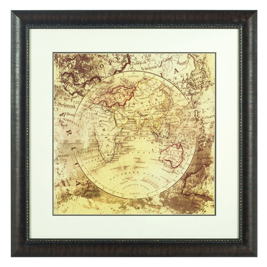 View Agatiyo framed vintage map wall art