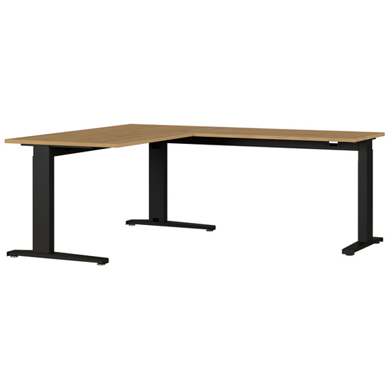 Agenda Angled Laptop Desk In Grandson Oak And Black