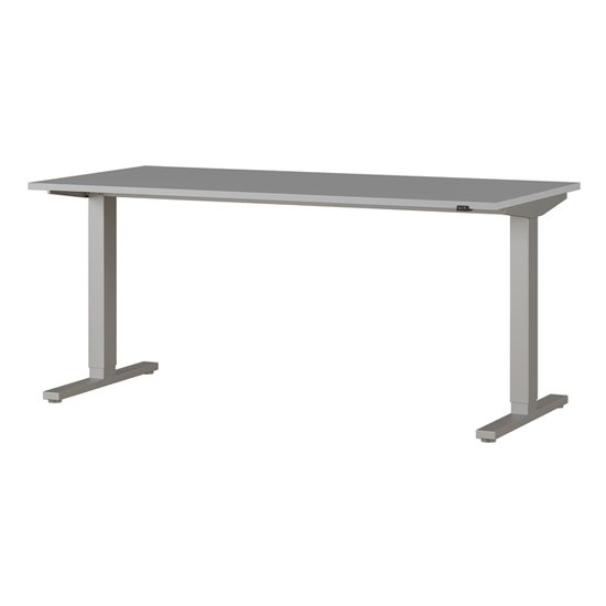Agenda Medium Adjustable Laptop Desk In Light Grey And Silver