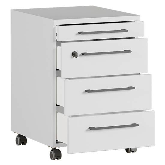 Agenda Rolling Container With Drawers In Light Grey_2