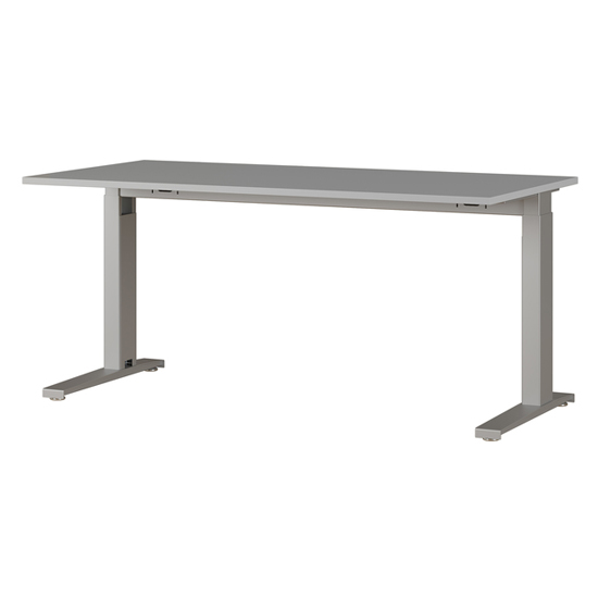 Agenda Small Adjustable Laptop Desk In Light Grey And Silver