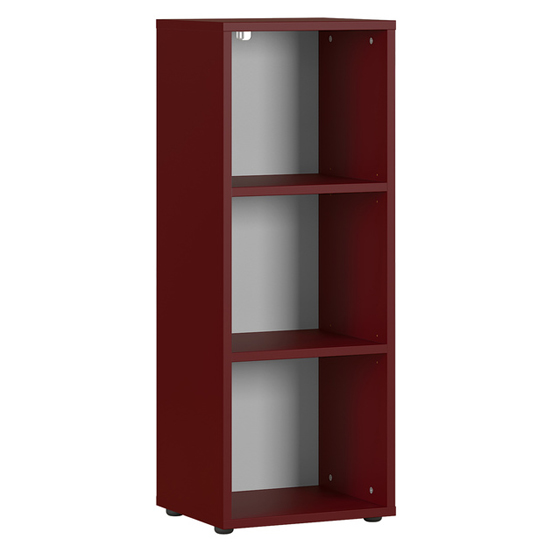 Agenda Small Filing Sheving Unit In Ruby Red
