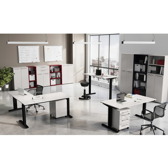 Agenda Tall Filing Sheving Unit In Ruby Red_2