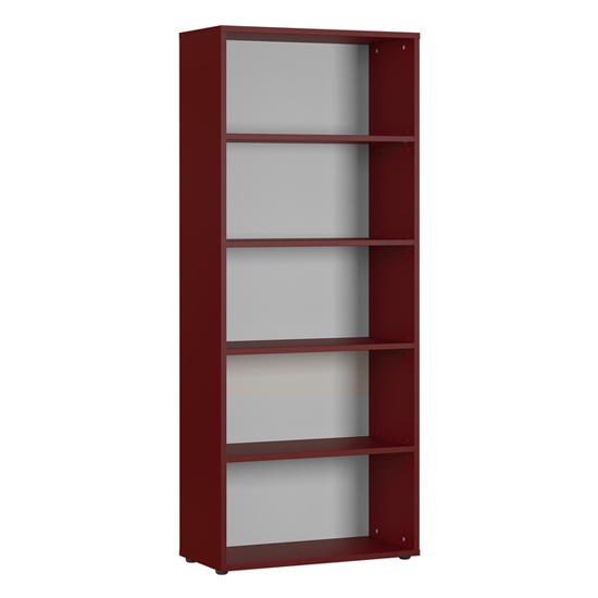 Agenda Tall Filing Sheving Unit In Ruby Red