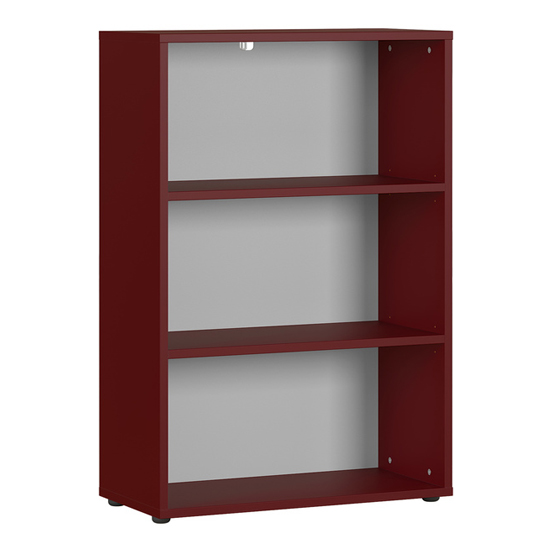 Agenda Wide Filing Sheving Unit In Ruby Red