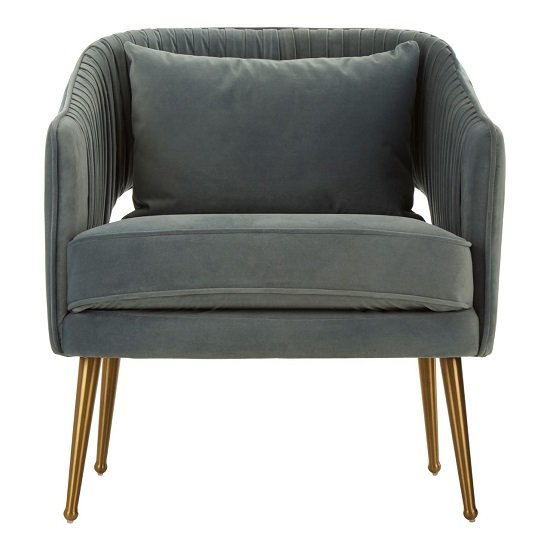Agnetas Velvet Armchair In Blue With Gold Stainless Steel Legs_1