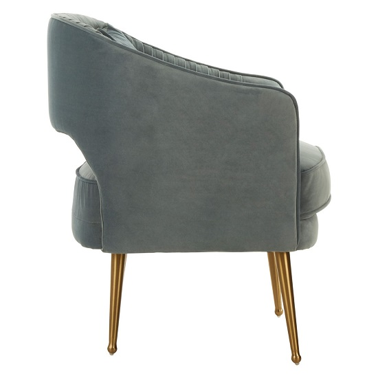 Agnetas Velvet Armchair In Blue With Gold Stainless Steel Legs_3