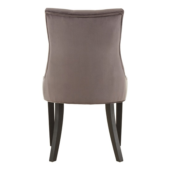 Agnew Velvet Dining Chair In Grey With Rubberwood Legs_4