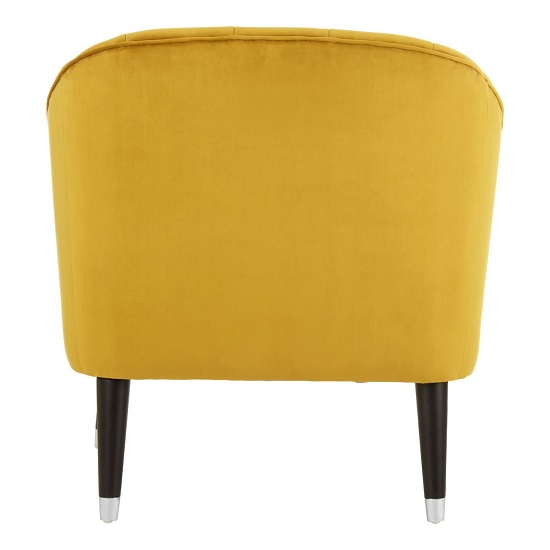 Agoront Velvet Upholstered Lounge Chair In Yellow Finish_4
