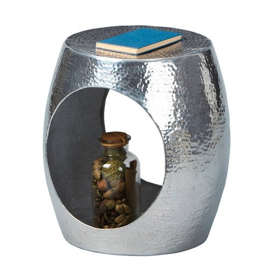 Agra Aluminium Side Table In Metallic_1