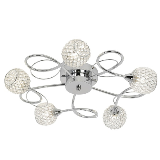 Aherne 5 Ceiling Lamp In Chrome_1